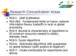research concentration areas