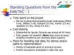 standing questions from the eab tac i
