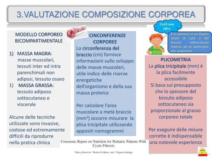 3.VALUTAZIONE COMPOSIZIONE CORPOREA