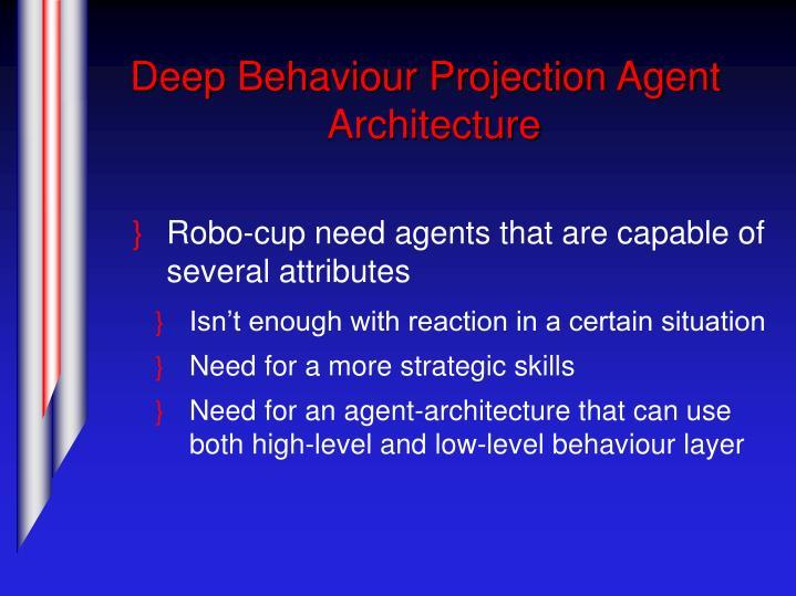 Deep Behaviour Projection Agent Architecture