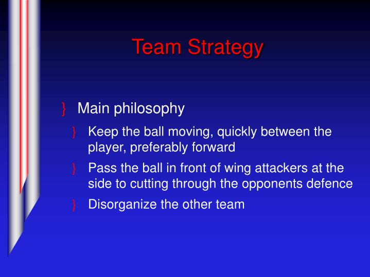 Team Strategy