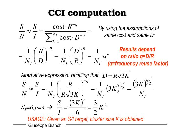 CCI computation