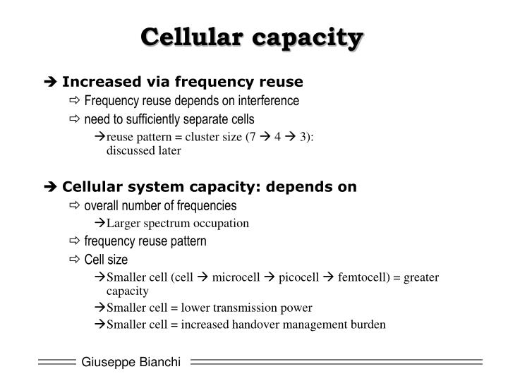 Cellular capacity
