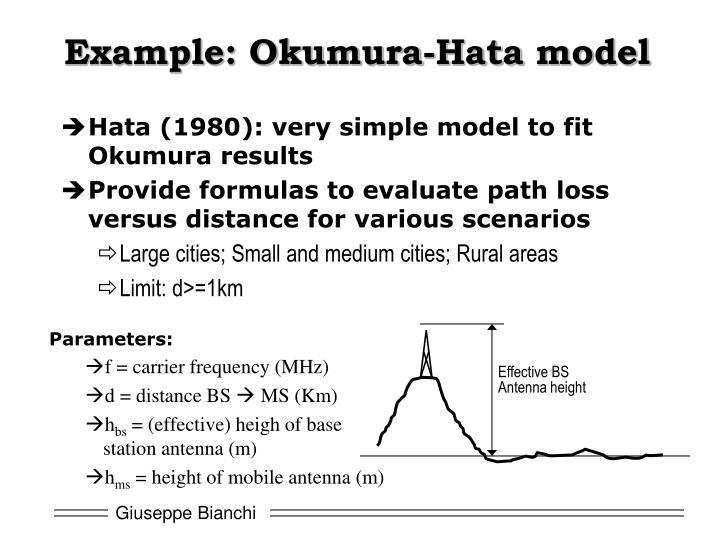 Example: Okumura-
