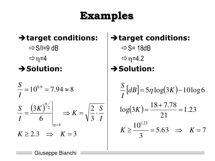 target conditions: