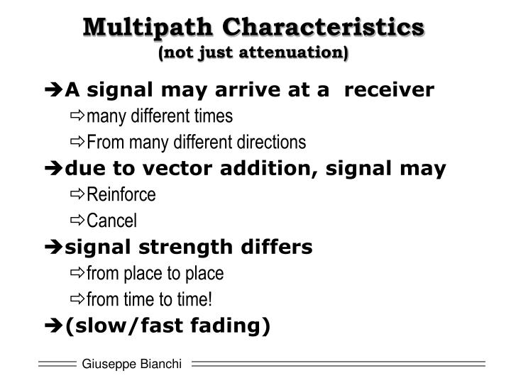 Multipath Characteristics