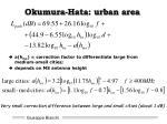 okumura hata urban area