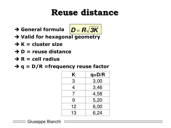 Reuse distance
