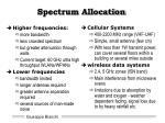 spectrum allocation