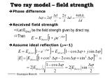 two ray model field strength