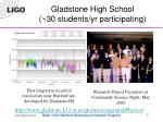 gladstone high school 30 students yr participating