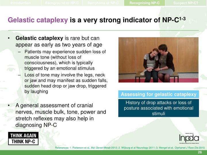Gelastic cataplexy