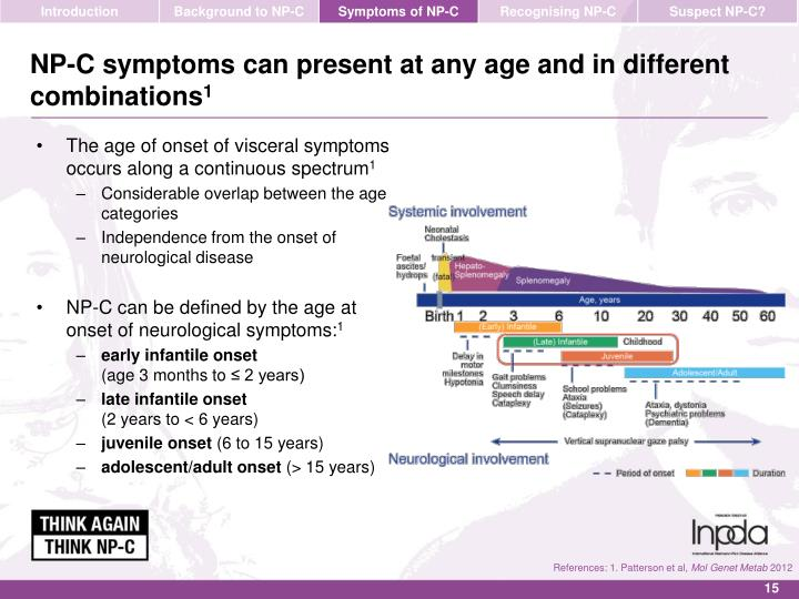 NP-C symptoms can present at any age and in different