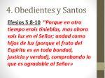 4 obedientes y santos