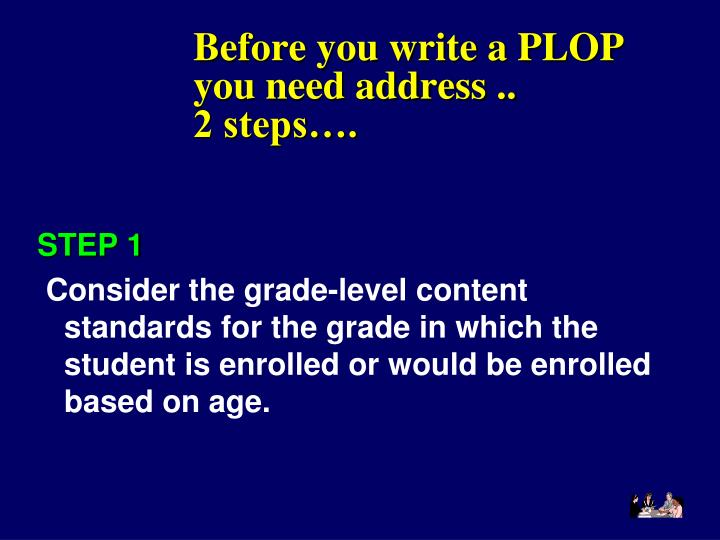 Before you write a PLOP