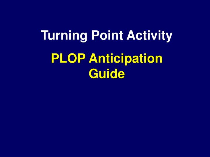 Turning Point Activity