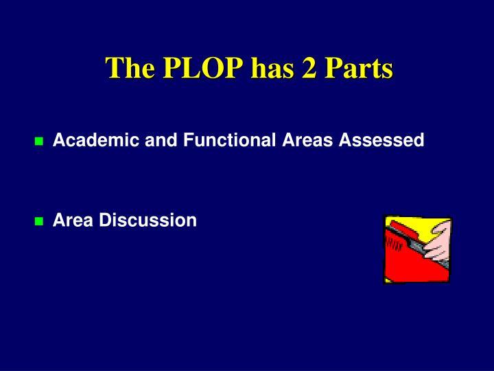 The PLOP has 2 Parts