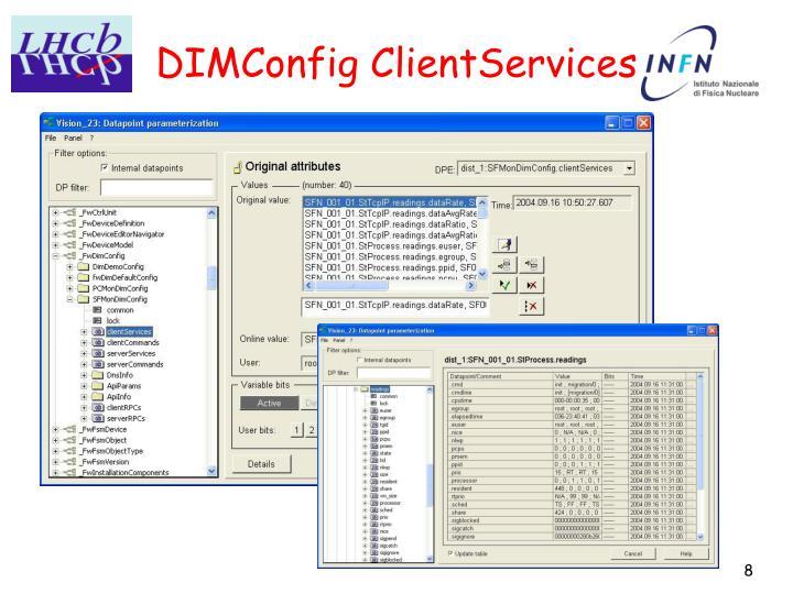 DIMConfig ClientServices
