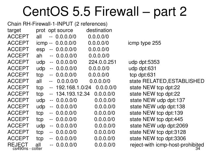CentOS 5.5 Firewall – part 2