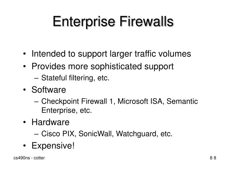 Enterprise Firewalls
