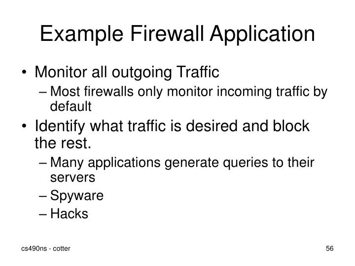 Example Firewall Application