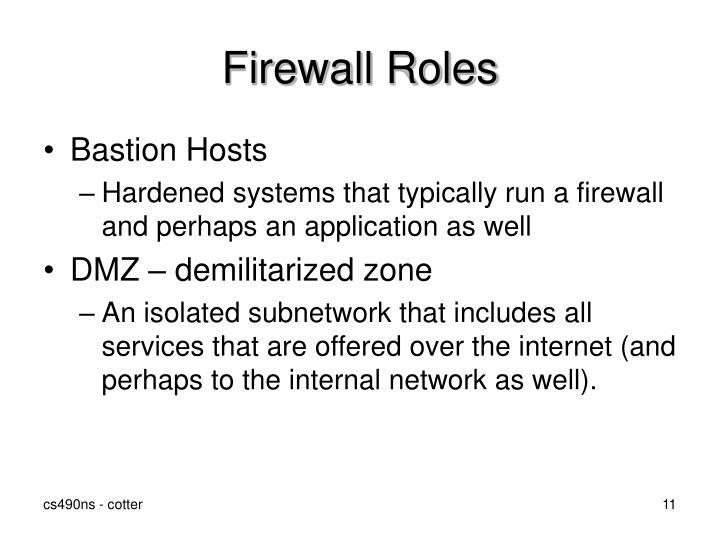 Firewall Roles