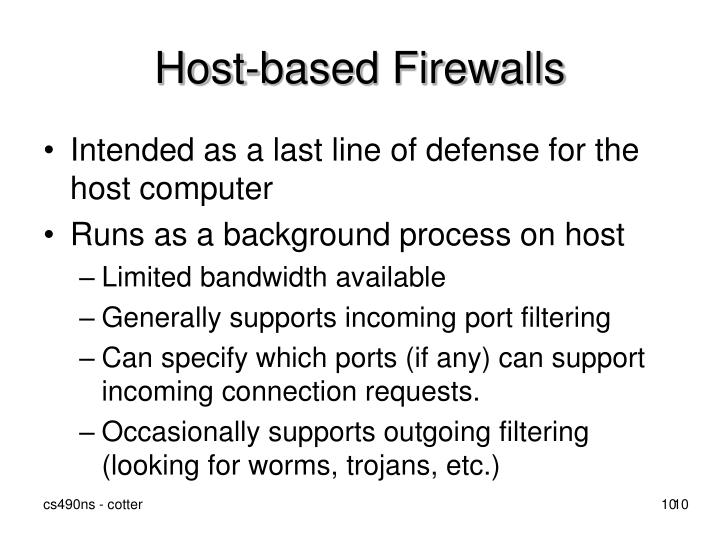 Host-based Firewalls