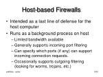 host based firewalls
