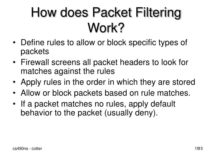 How does Packet Filtering Work?