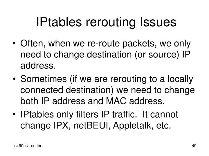IPtables rerouting Issues
