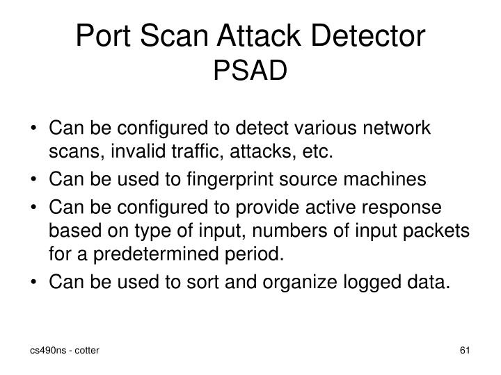 Port Scan Attack Detector