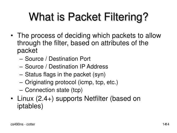 What is Packet Filtering?