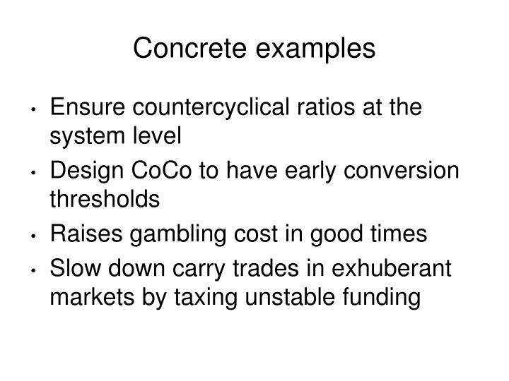 Concrete examples