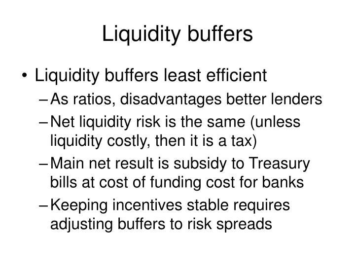 Liquidity buffers
