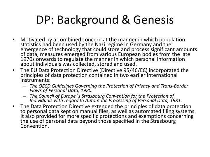 DP: Background & Genesis