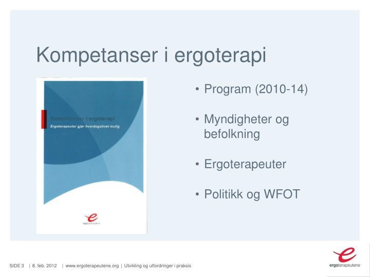 Kompetanser i ergoterapi