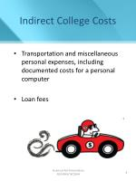 indirect college costs