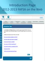 introduction page 2012 2013 fafsa on the web