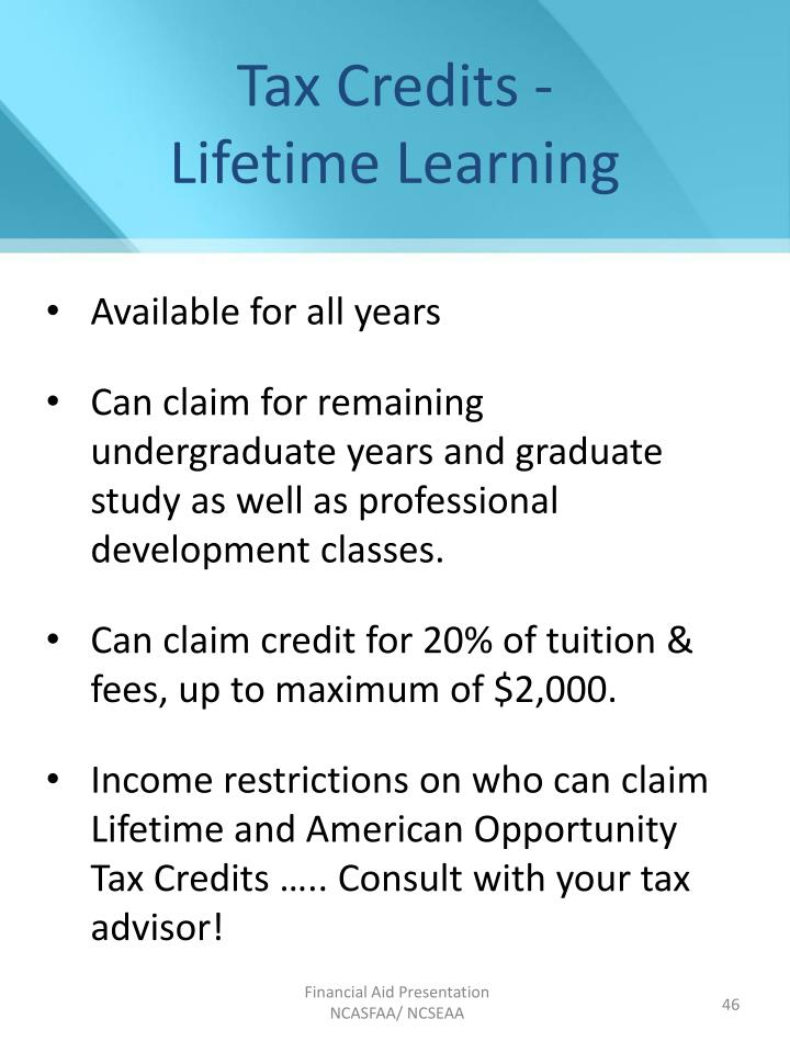 Tax Credits -