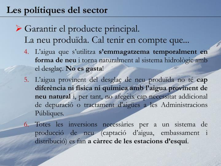 Les polítiques del sector