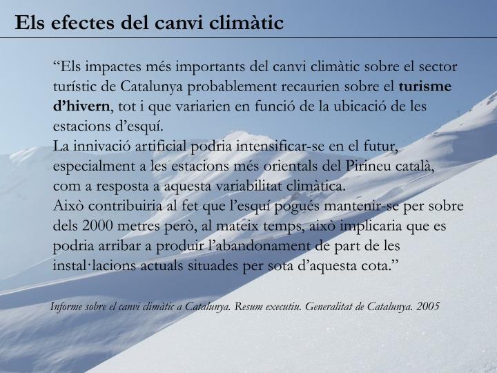 Els efectes del canvi climàtic