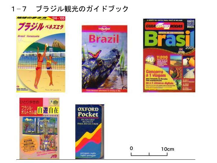 1−7 ブラジル観光のガイドブック