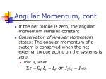 angular momentum cont