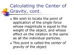 calculating the center of gravity cont1