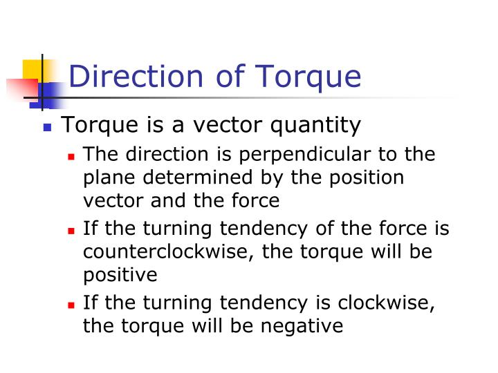 Direction of Torque