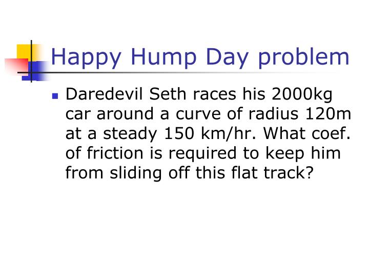 Happy Hump Day problem