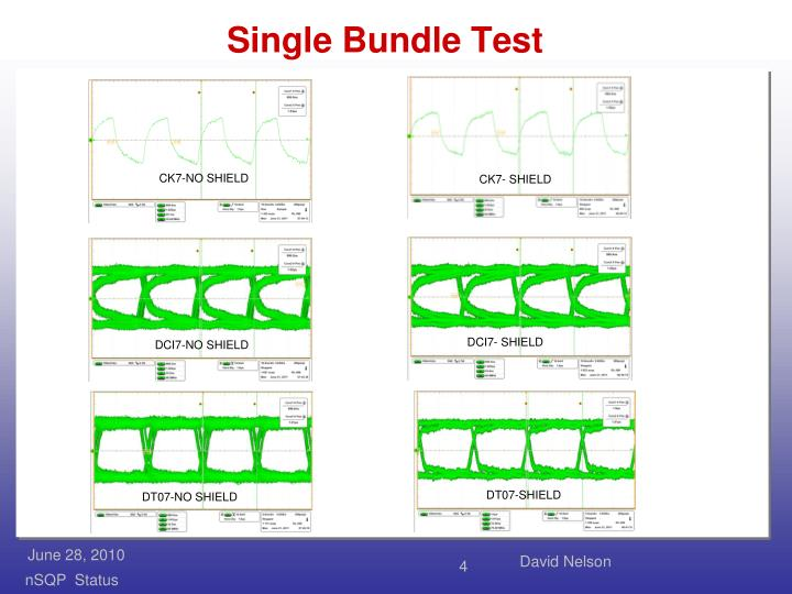 Single Bundle Test