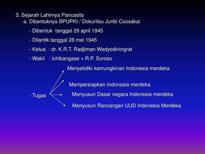 3. Sejarah Lahirnya Pancasila