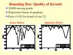 bounding box quality of kernels