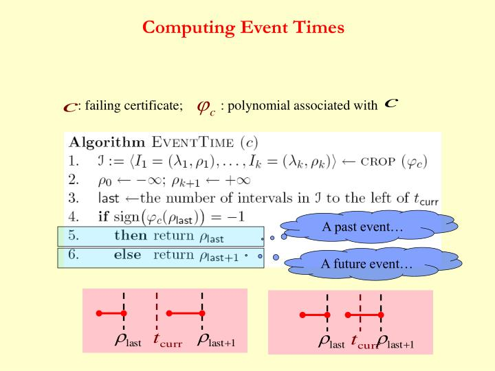 Computing Event Times